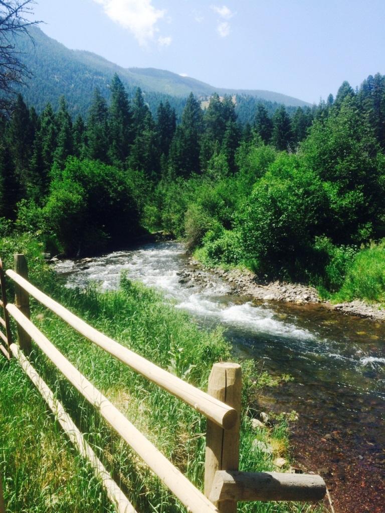 Big Creek thru fence